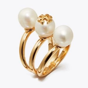 Tory Burch - Stacked Pearl Ring